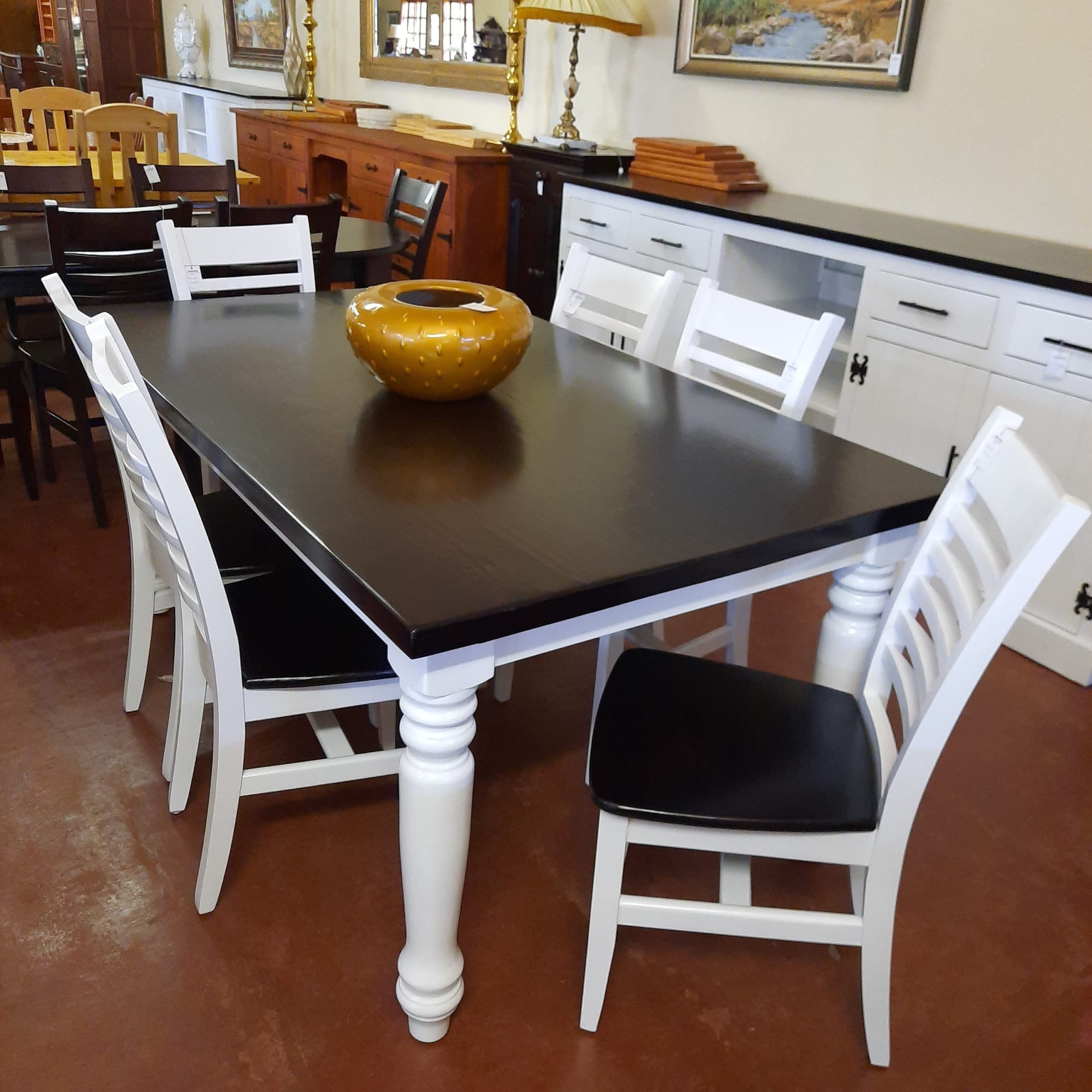 6 Seater Dining Table In Pine, Pine Dining Room Table And Chairs